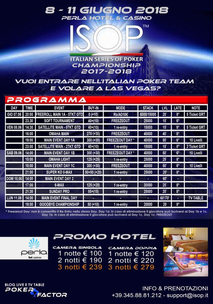 programma isop championship 2017/2018 evento 10 special vegas