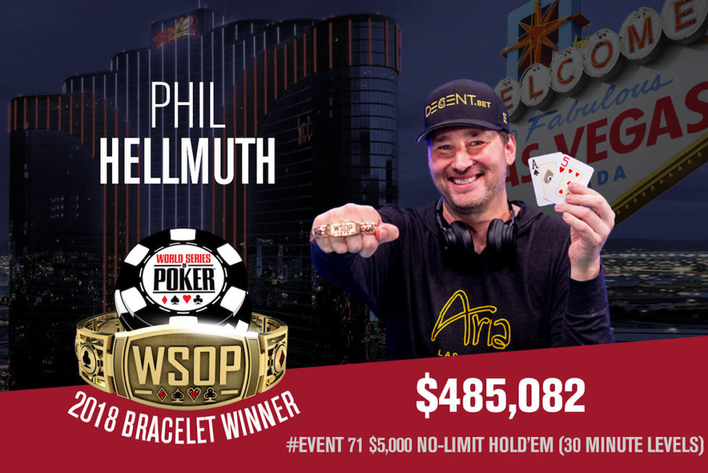 phil hellmuth WSOP 2018 World Series Of Poker 2018 15th bracelet