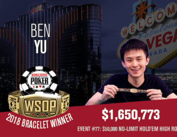 wsop 2018 ben yu high roller bracelet