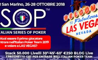 ISOP Special Dream San Marino italian poker team las vegas