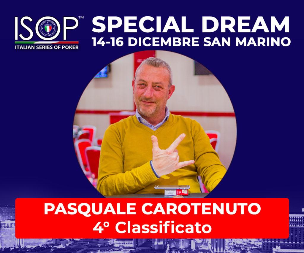 4 classificato pasquale carotenuto special dream san marino poker