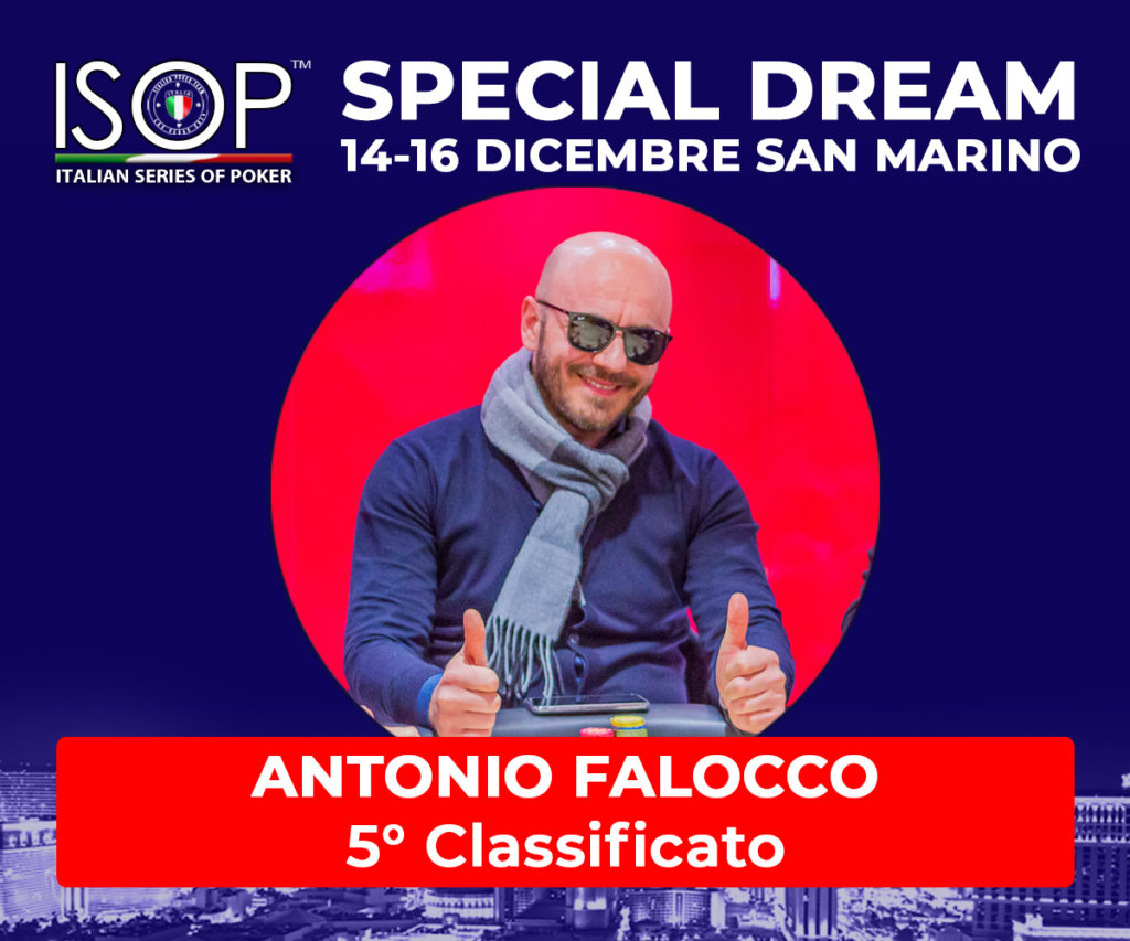 5 classificato antonio falocco special dream san marino poker
