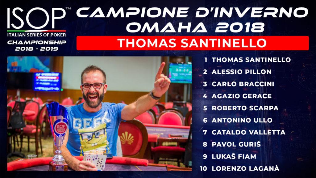 thomas santinello Campione d'inverno omaha campioni d'inverno
