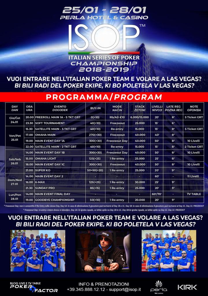 locandina isop championship evento 4 2018