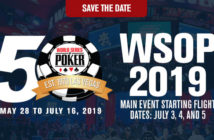 WSOP 2019 anteprima Save the Date Carousel Graphic