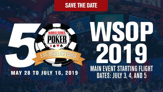 WSOP 2019 anteprima Save the Date Carousel Graphic