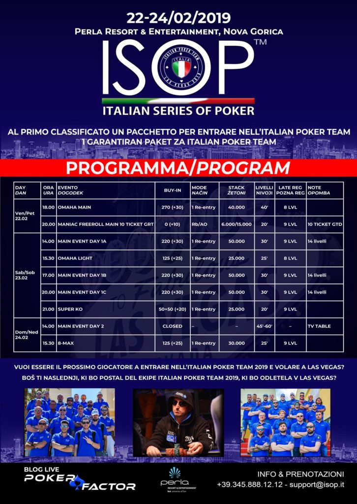 locandina evento isop special dream perla resort
