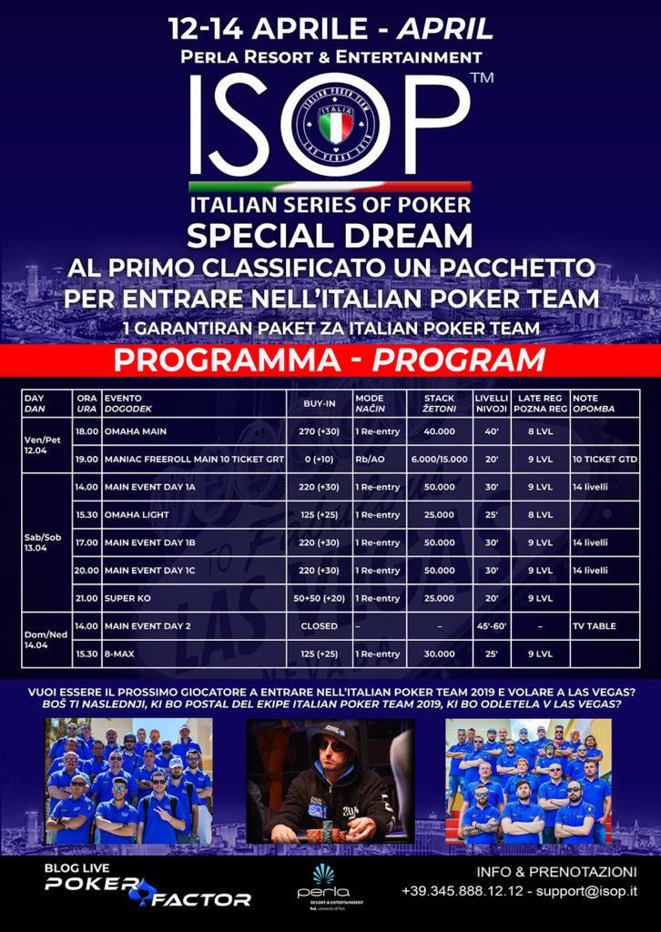 Locandina evento ISOP Special Dream aprile