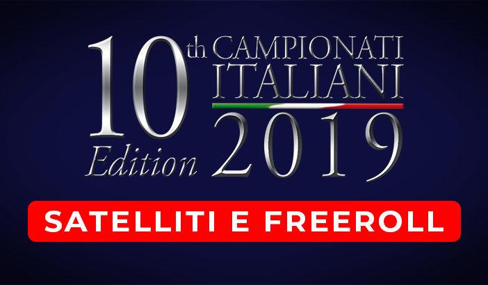 Satelliti e Freeroll Campionati Italiani