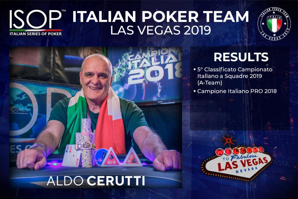 las vegas isop italian poker team Aldo Cerutti