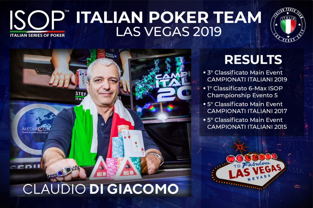 Claudio Di Giacomo italian poker team las vegas