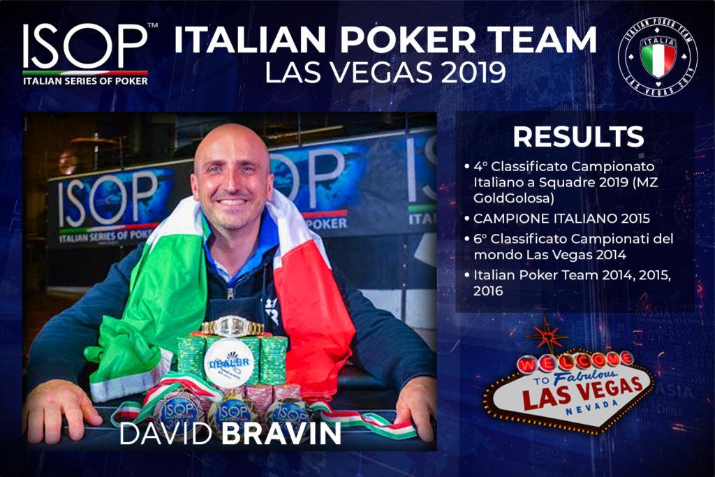 David Bravin italian poker team las vegas isop