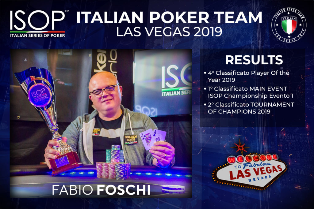 Fabio Foschi italian poker team isop las vegas