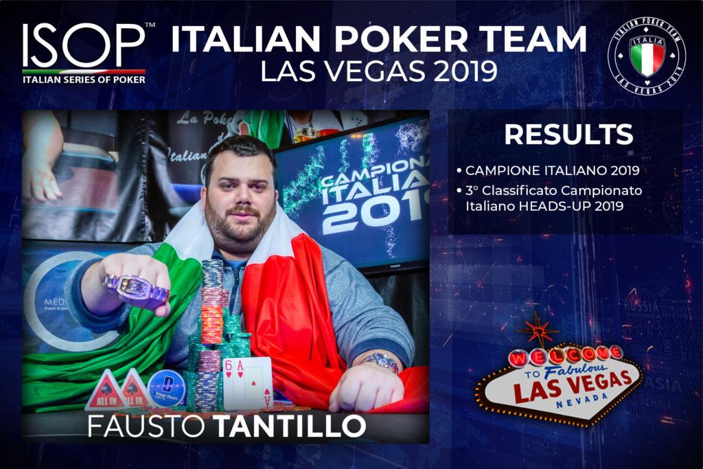 Fausto Tantillo isop italian poker team las vegas