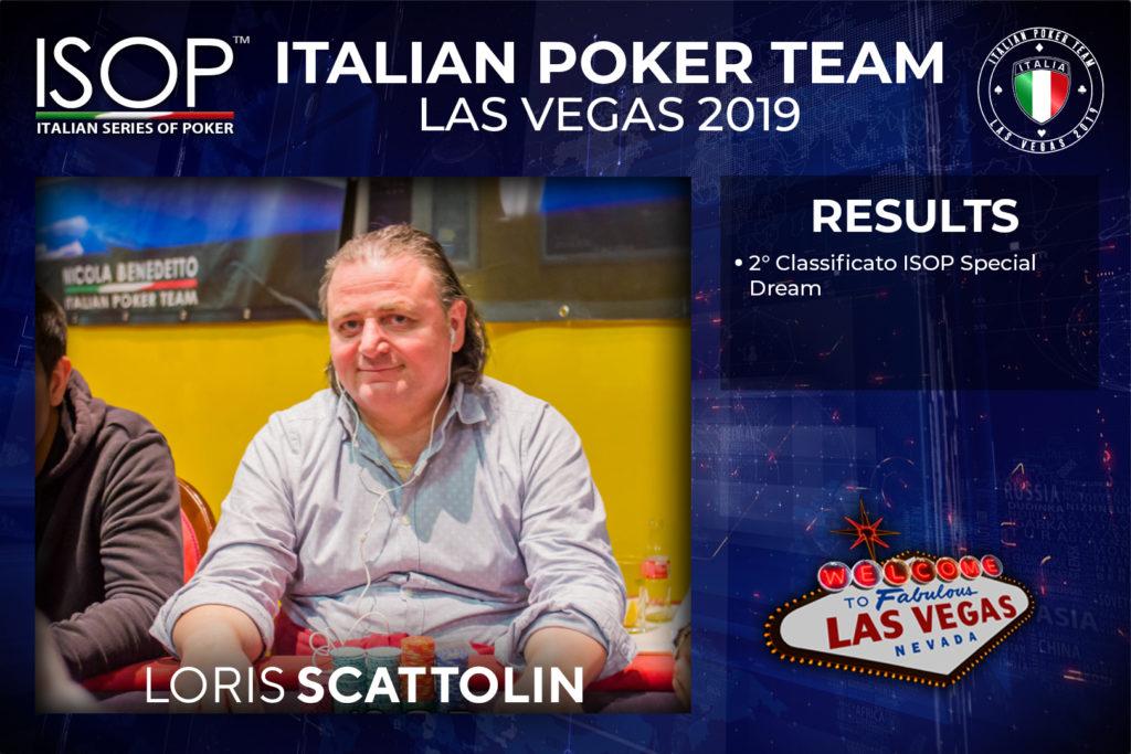 italian poker team Loris Scattolin las vegas isop