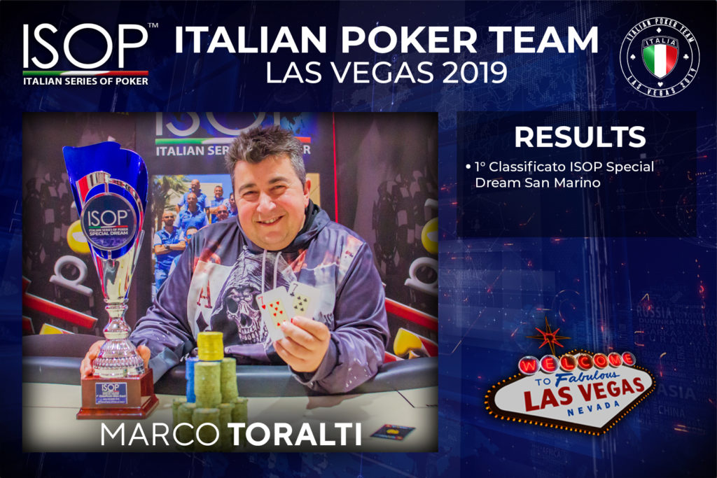 Marco Toralti italian poker team las vegas isop