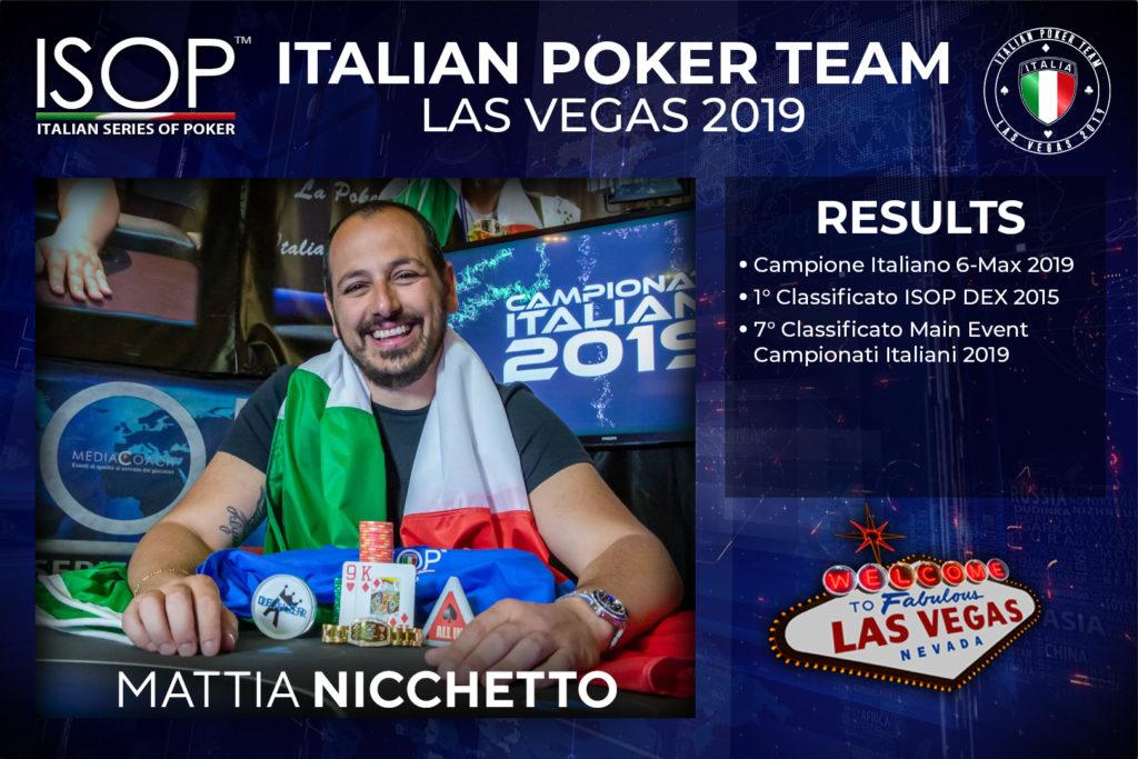 Mattia Nicchetto isop italian poker team