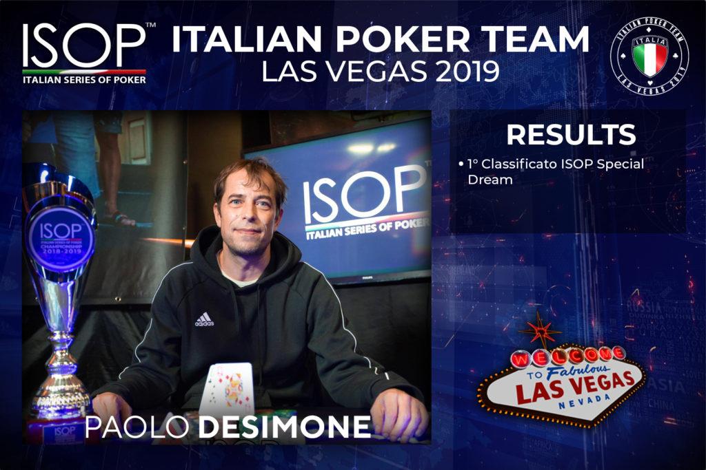 italian poker team isop las vegas Paolo Desimone
