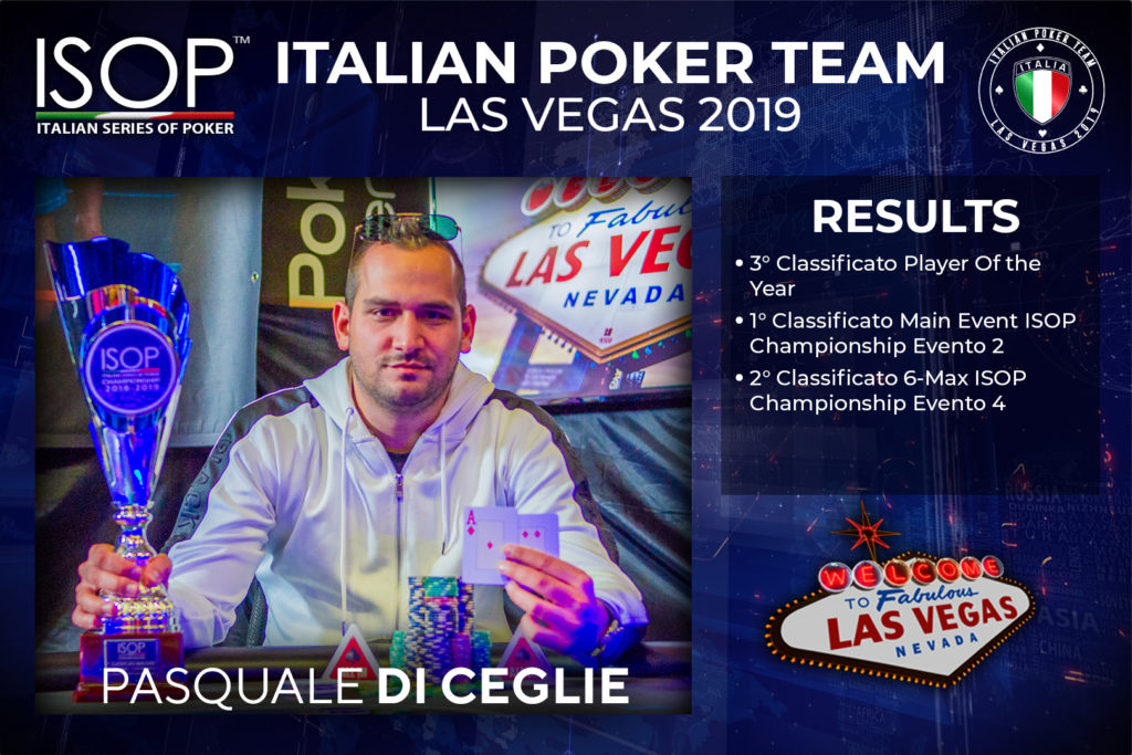 Pasquale di Ceglie isop italian poker team las vegas