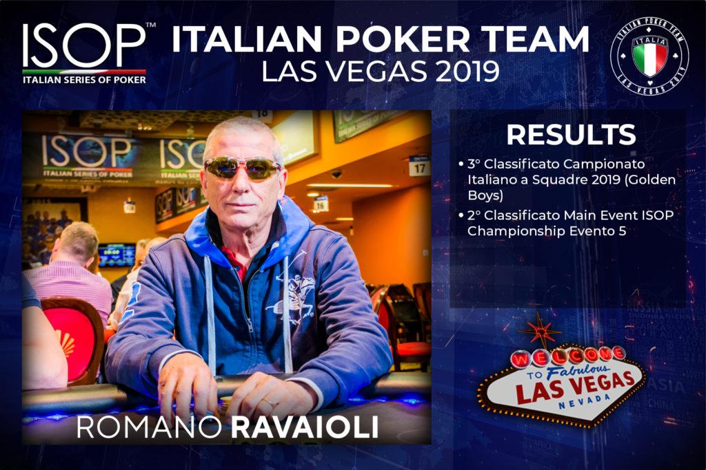 Romano Ravaioli isop italian poker team las vegas