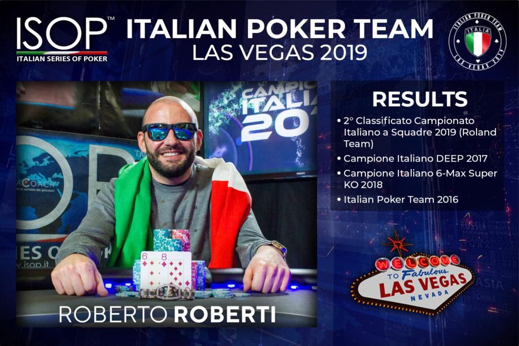 Roberto Roro Roberti las vegas italian poker team isop