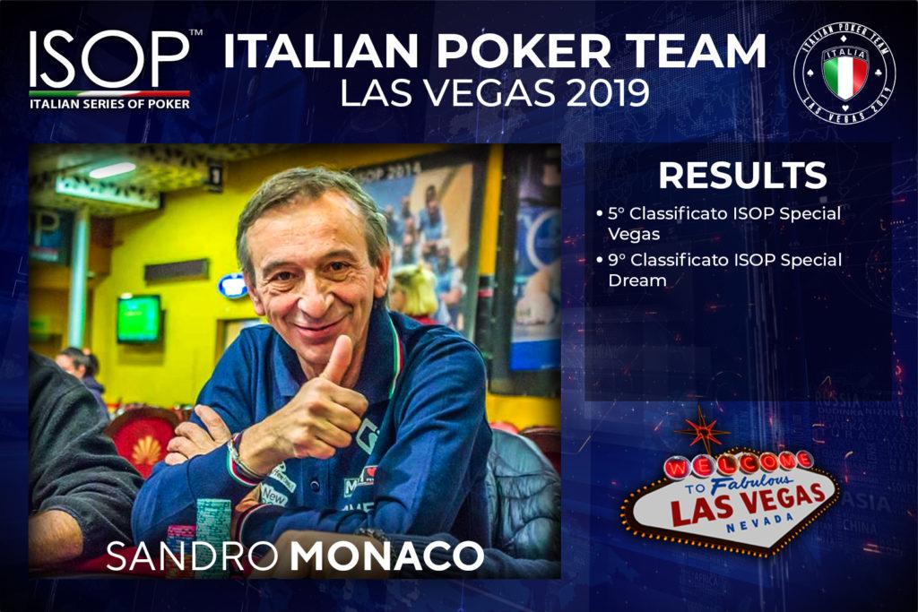 Sandro Monaco Italian Poker team las vegas isop