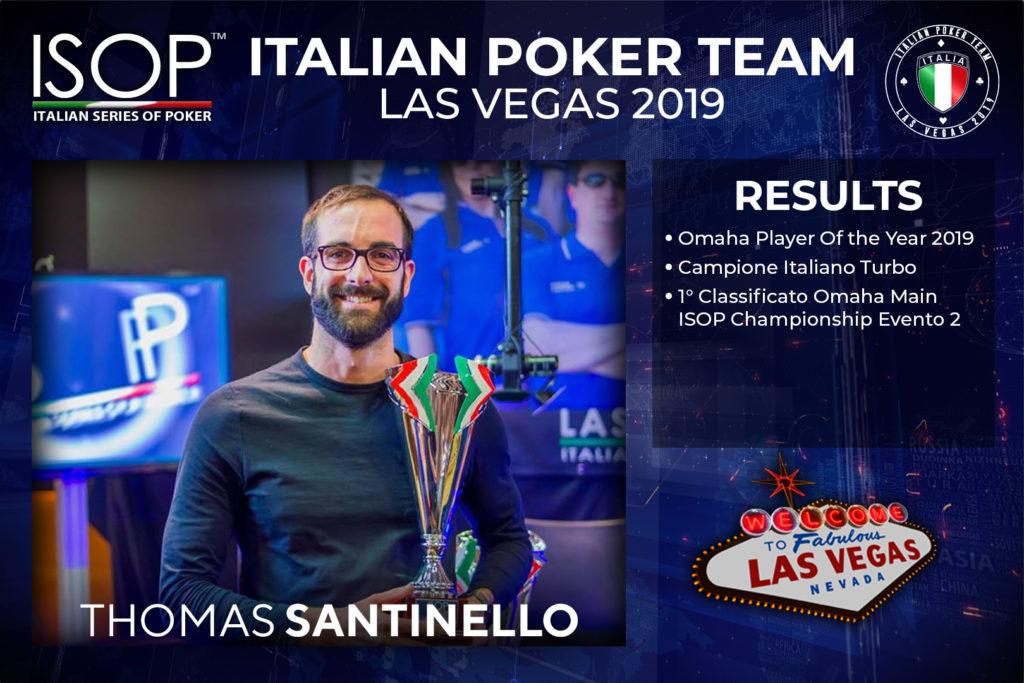 Thomas Santinello italian poker team las vegas isop