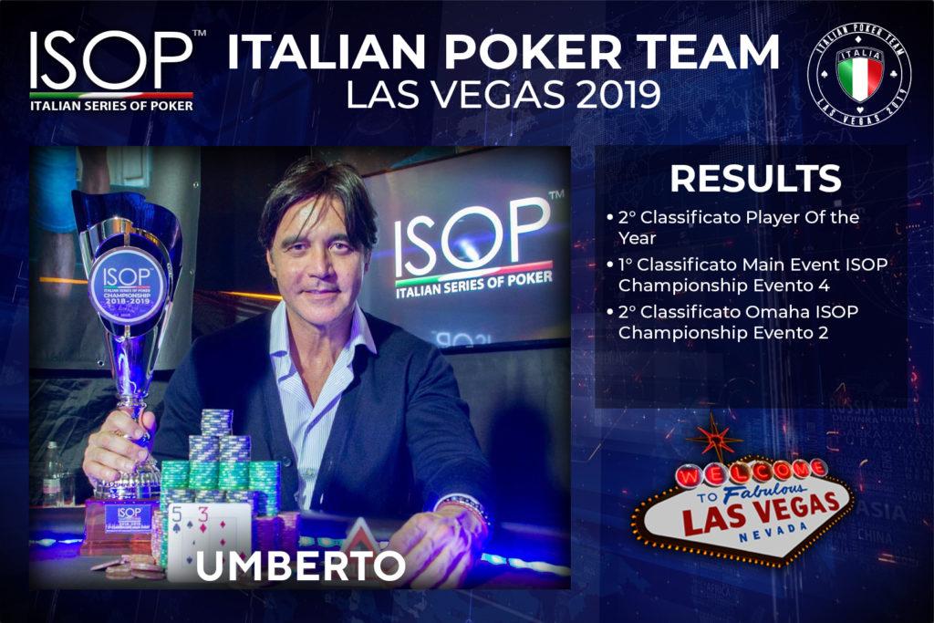 Umberto ISOP Italian Poker Team Las Vegas