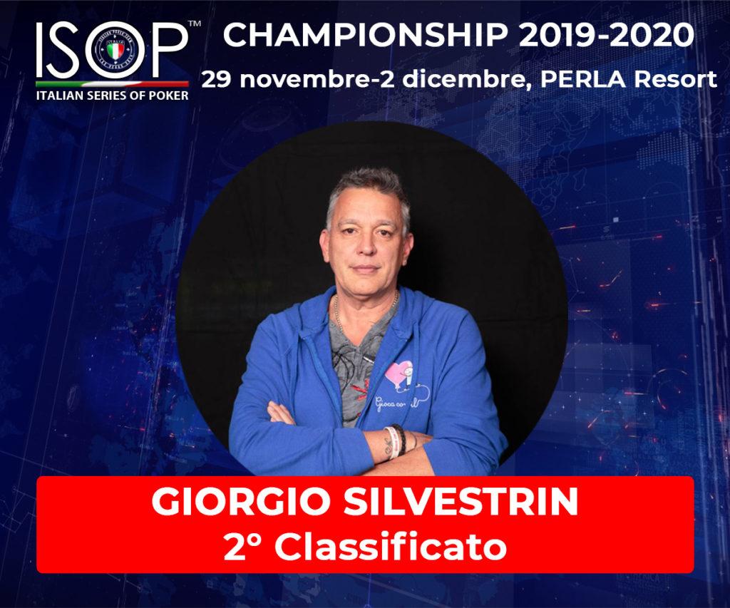 giorgio silvestrin 2 isop italian series of poker