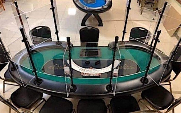 tavolo poker plexiglass