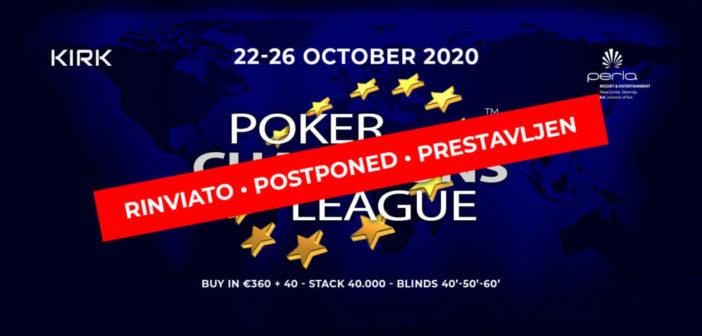 Covid PCL Poker Champions League rinviata a data da definire